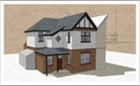 Graphic Design 3D models, visualisations, Architectural models, documents and drawings for planning application for house extension and new build, building regulations.