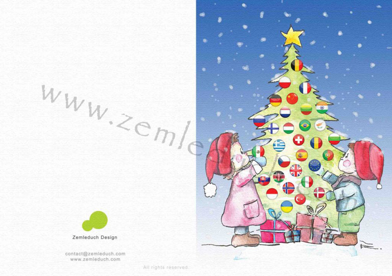 christmas envelope designs