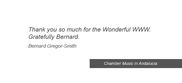 testimonials and references from client graphic design chamber music andalucia Spain