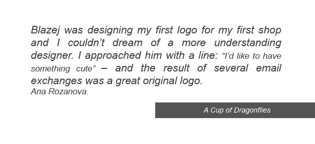 testimonials and references from client graphic design a cup of dragonflies