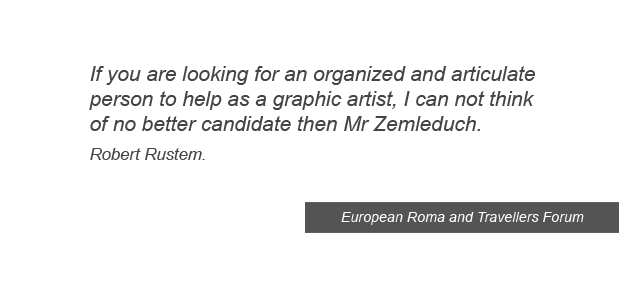 testimonials and references from client graphic design Roma Council of Europe