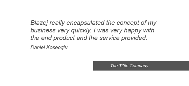 testimonials and references from client graphic design The Tiffin Company